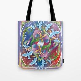 Mirror Garden Iris Tote Bag