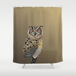 Owl Totem Shower Curtain
