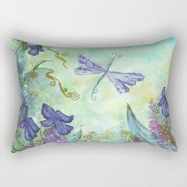 Blue fly Rectangular Pillow