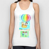 shinee Tank Tops featuring Lucky Star by sophillustration