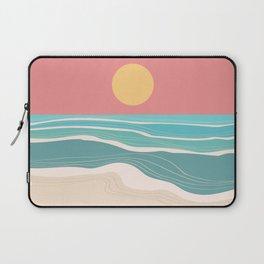 Crashing wave on sunny bay Laptop Sleeve