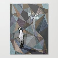 bon iver Canvas Prints featuring Bon Iver by Kat Gifford