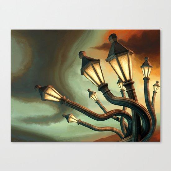 Drunk Streetlamps Canvas Print