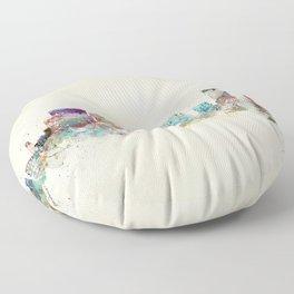 portland oregon skyline Floor Pillow