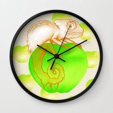Caramel Chameleon Wall Clock