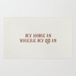 My Home is where my heart is - Vintage By Totalia Rug