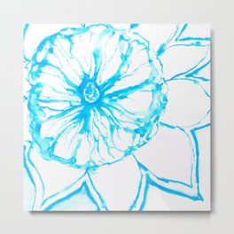 Blue Sunflower Metal Print