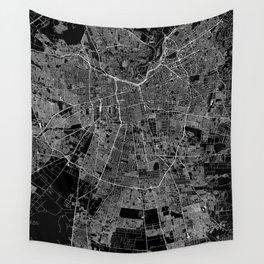 Santiago Black Map Wall Tapestry