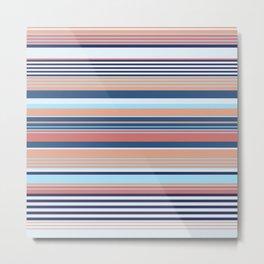 Nautical Stripe Metal Print