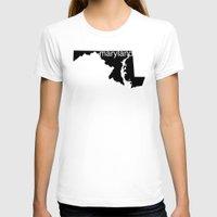 maryland T-shirts featuring Maryland by Isabel Moreno-Garcia