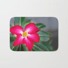 Resplendent exotic flower -Adenium Obesum Bath Mat