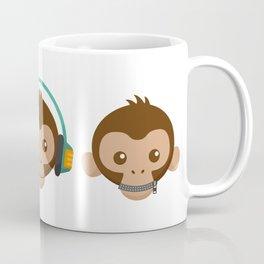 Three Monkeys Coffee Mug