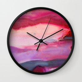 Raspberry Sunset Wall Clock