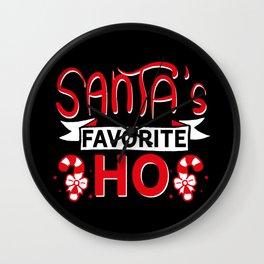 Santa's Favorite Ho   Christmas Xmas Wall Clock