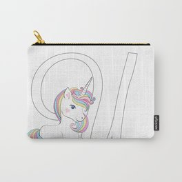 Unicorn,letters,a,b,c,personalised gift ideas  Carry-All Pouch