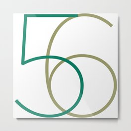 56 Metal Print