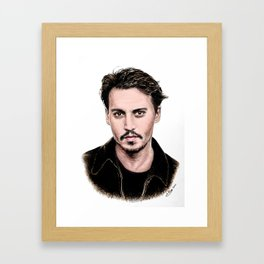 J Depp Framed Art Print