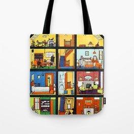Vintage Doll House Tote Bag