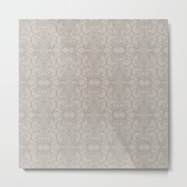 Latte Vertical Lace Metal Print