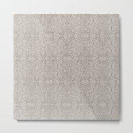 Latte Vertical Lace Metal Print