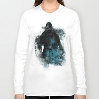 bane Long Sleeve T-shirts featuring Abstract BANE by DesignLawrence