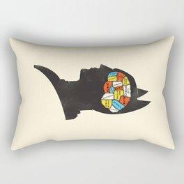 Bat Phrenology Rectangular Pillow
