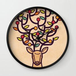 One Happy Deer Wall Clock