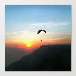 Sunset Paraglide Canvas Print
