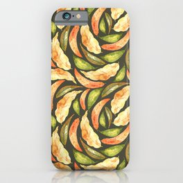 Autumnal Leaves Pattern 2 iPhone Case