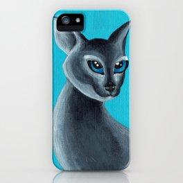 Big Blue Eyes iPhone Case