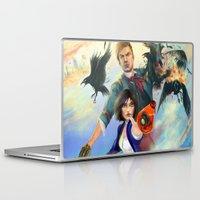 bioshock infinite Laptop & iPad Skins featuring Bioshock Infinite by Alba Palacio