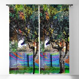 Colorful tree Blackout Curtain