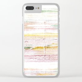Baby powder abstract watercolor Clear iPhone Case