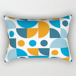 Minimalist Mid Century Modern Funky Retro pattern Rectangular Pillow
