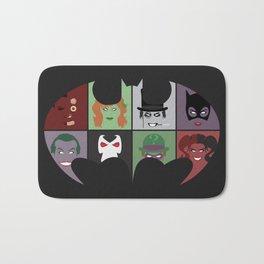 Bat Villains Bath Mat