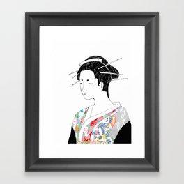 Japanese Inspired Framed Art Print