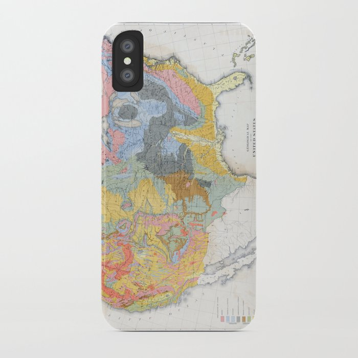 1874 Geological Map of the United States iPhone Case by ...