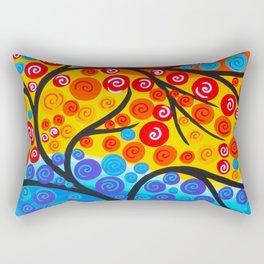Tree of Life Rainbow Rectangular Pillow