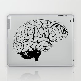 Braaains (black on grey) Laptop & iPad Skin