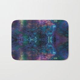 Violet snake skin pattern Bath Mat