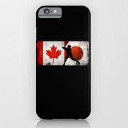 Baseball Canada Flag Tokyo 2021 Japan Flag grunge iPhone Case