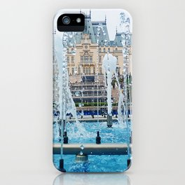 blue palace fountain iPhone Case