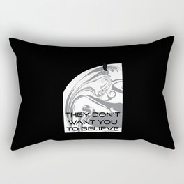 They Don't Want You to Believe - Black Knight Satellite Rectangular Pillow