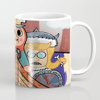 "vikings Mugs featuring My dangerous Friends. (Vikings) by Olivier Dressen aka ""HERO"""