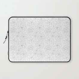Succulent Rosettes Organic Pattern - Floral Line Drawing Laptop Sleeve