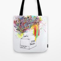 vegan Tote Bags featuring Vegan Victory by Sam Corona