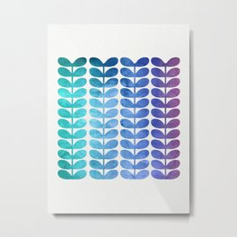 Colorful Leaves from Turquoise to Levender Metal Print