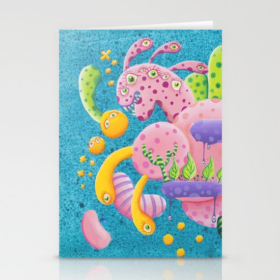 Psychadelic Pink Stationery Cards