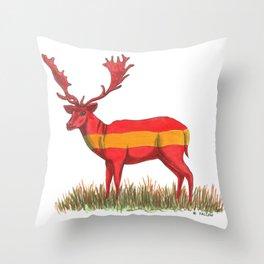 SPANISH Fallow Deer Throw Pillow