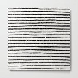 Distressed Hand Drawn Stripes Metal Print